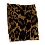 Jaguar Print Burlap Throw Pillow