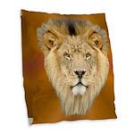 Lion Face Burlap Throw Pillow