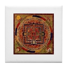Buddhist Mandala Tile Coaster