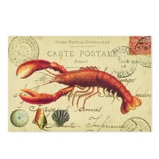 vintage French postcard with lobster Postcards (Pa