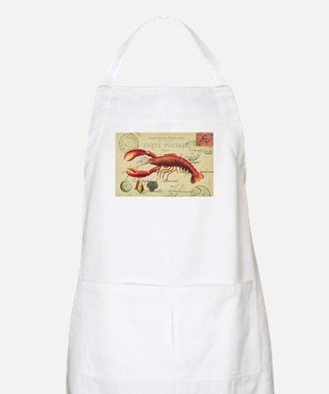 vintage French postcard with lobster Apron