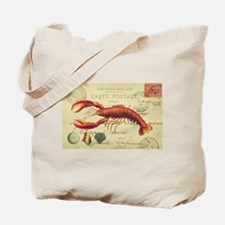 vintage French postcard with lobster Tote Bag