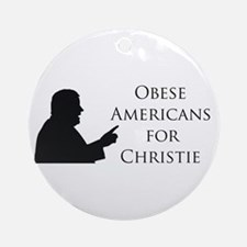Obese Americans for Christie Ornament (Round)