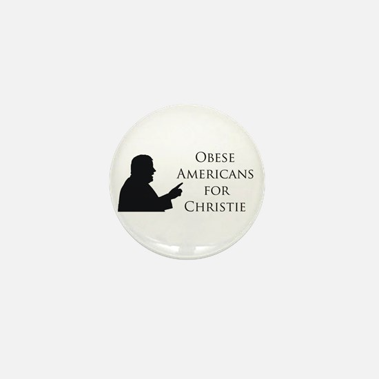 Obese Americans for Christie Mini Button
