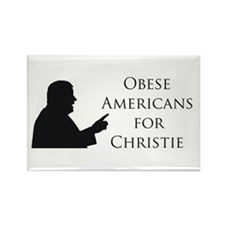 Obese Americans for Christie Rectangle Magnet