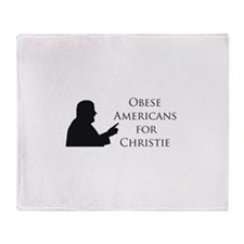 Obese Americans for Christie Throw Blanket