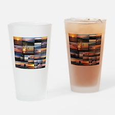 Sunrise/Sunset collage Drinking Glass