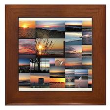 Sunrise/Sunset collage Framed Tile