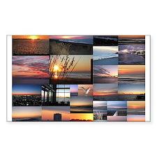 Sunrise/Sunset collage Decal