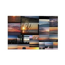 Sunrise/Sunset collage Rectangle Magnet