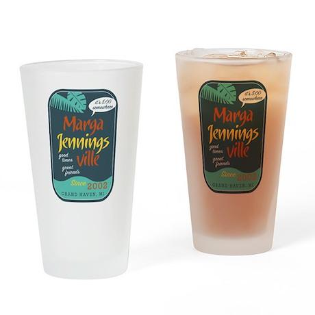 Marga Jennins Ville Drinking Glass