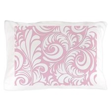 Baby Pink & White Swirls Pillow Case