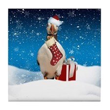 Puffin Christmas Holiday Tile Coaster