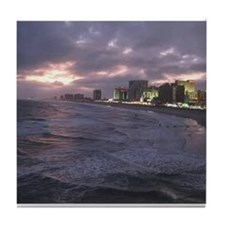 Sunset in Atlantic City Tile Coaster