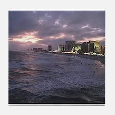 Sunset in Atlantic City Tile Coaster