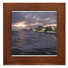 Sunset in Atlantic City Framed Tile