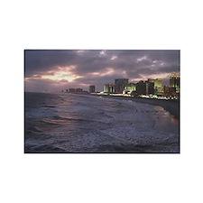 Sunset in Atlantic City Rectangle Magnet
