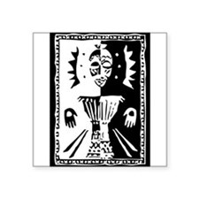 Djembe mask black and white Sticker