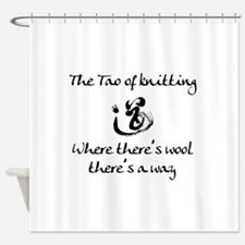 Tao of Knitting Shower Curtain