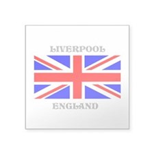 "Liverpool England Square Sticker 3"" x 3"""