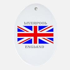 Liverpool England Ornament (Oval)