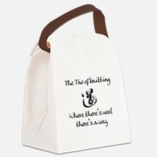 Tao of Knitting Canvas Lunch Bag