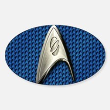 Star Trek Blue Sciences Sticker (Oval)