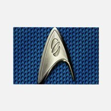 Star Trek Blue Sciences Rectangle Magnet