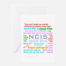 NCIS Ziva Quotes Greeting Card