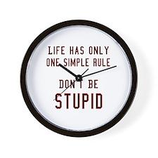 Don't Be Stupid Wall Clock
