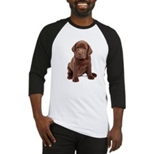 Chocolate Labrador Puppy Baseball Jersey