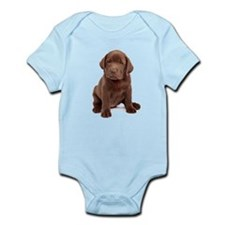 Chocolate Labrador Puppy Infant Bodysuit