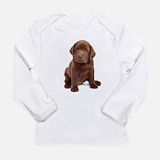 Chocolate Labrador Puppy Long Sleeve Infant T-Shir