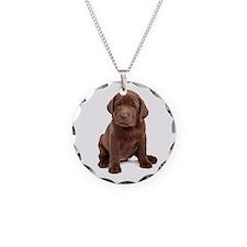 Chocolate Labrador Puppy Necklace