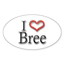 I Heart Bree Oval Decal