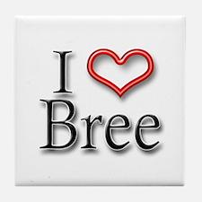 I Heart Bree Tile Coaster
