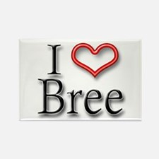 I Heart Bree Rectangle Magnet