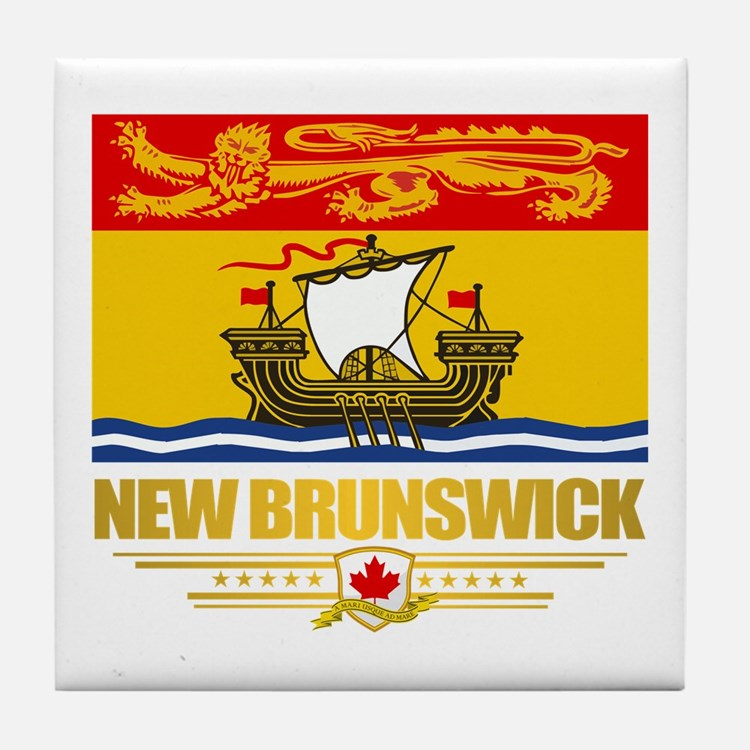 New Brunswick Pride Tile Coaster