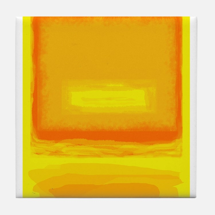 Colorfield Yellow after Rothko Tile Coaster