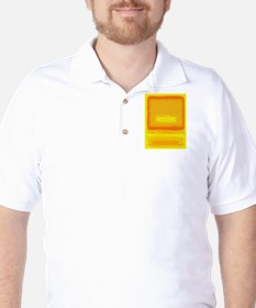 Colorfield Yellow after Rothko Golf Shirt