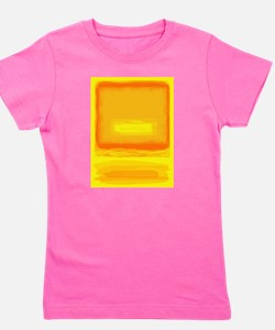 Colorfield Yellow after Rothko Girl's Tee