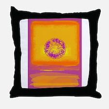 Colorfield Sunset Throw Pillow