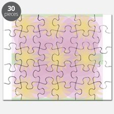 Mauve, Pale Green and Yellow Puzzle