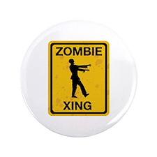 "Zombie Xing 3.5"" Button"
