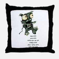 zombie kitty Throw Pillow