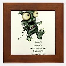 zombie kitty Framed Tile