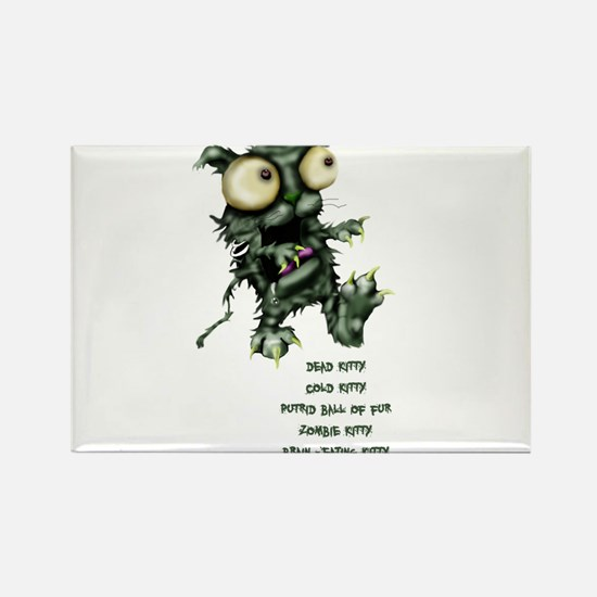 zombie kitty Rectangle Magnet