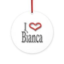 I Heart Bianca Ornament (Round)