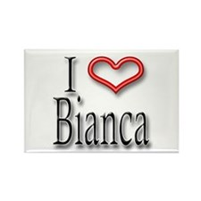 I Heart Bianca Rectangle Magnet