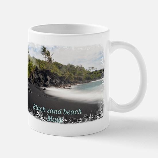 Black sand beach Mug